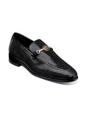 Stacy Adams Barrino Leather Sole Moc Toe Bit Loafer in Black (25364-001)