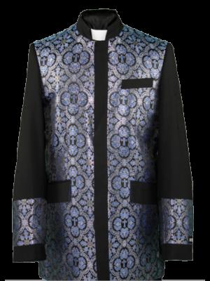 Menz Clergy Jacket in Black/Royal (MCJ2)