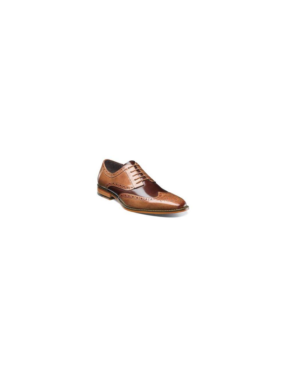 Men/'s Stacy Adams Tinsley Tan and Brown Wingtip Dress Shoe 25092-238