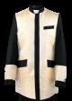 Menz Clergy Jacket in Black/Beige (MCJ6)