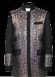 Menz Clergy Jacket in Black/Purple (MCJ3)