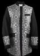 Menz Clergy Jacket in Black/Silver (MCJ4)