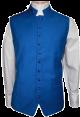 Menz Solid Clergy Vest in Royal (MCV-4)