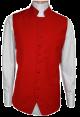 Menz Solid Clergy Vest in Red (MCV-3)